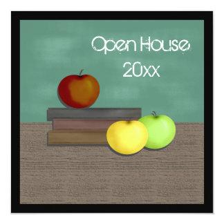Convites da casa aberta da escola