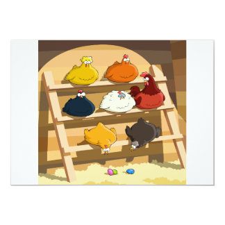 Convites da casa de galinha