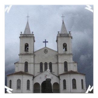 Convites da catedral convite quadrado 13.35 x 13.35cm