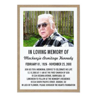 Convites da cerimonia comemorativa ou do funeral