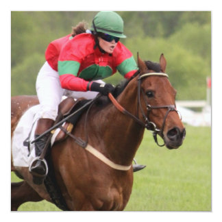 Convites da corrida de cavalos