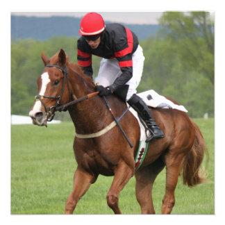 Convites da corrida de cavalos do relvado