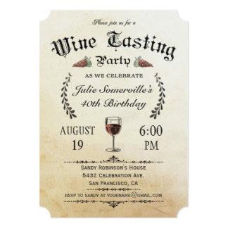 Convites da degustação de vinhos (vintage) v.1