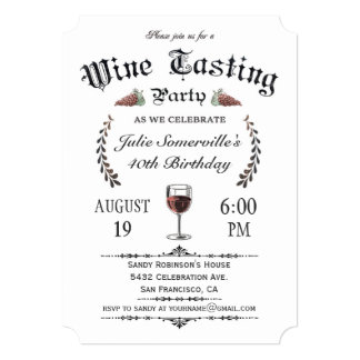 Convites da degustação de vinhos (vintage) v.2