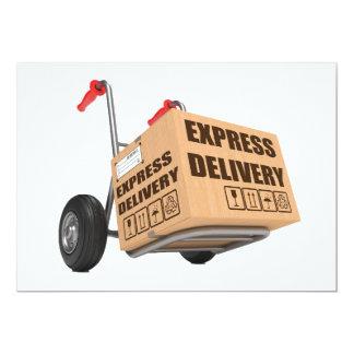 Convites da entrega expressa