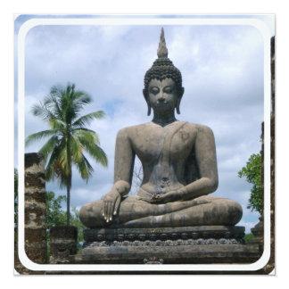 Convites da estátua de Buddha Convite Quadrado 13.35 X 13.35cm