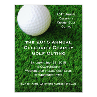Convites da excursão do golfe convite 10.79 x 13.97cm