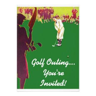 Convites da excursão do golfe do vintage