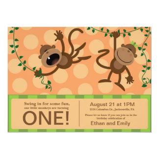 Convites da festa de aniversário do gêmeo
