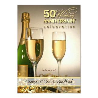 Convites da festa de aniversário do na moda 50th convite 12.7 x 17.78cm