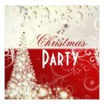 Convites da festa de Natal, bolhas do champanhe