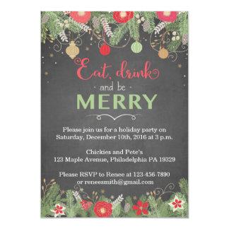 Convites da festa de Natal - coma a bebida & seja