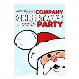 Convites da festa de Natal da empresa