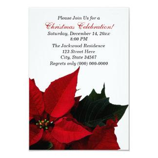 Convites da festa de Natal da poinsétia