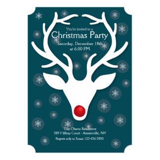 Convites da festa de Natal de Rudolf