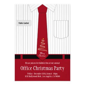 Convites da festa de Natal do escritório