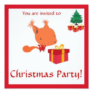 Convites da festa de Natal dos miúdos com um