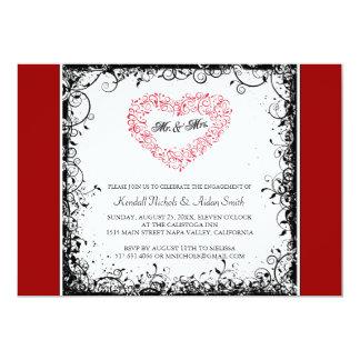 Convites da festa de noivado