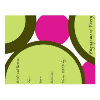 Convites da festa de noivado cartão postal