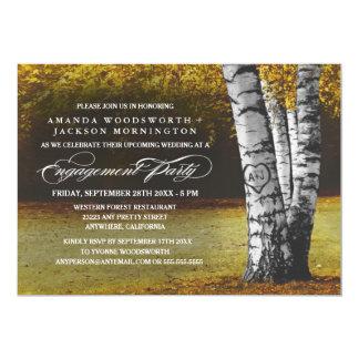 Convites da festa de noivado da árvore de vidoeiro
