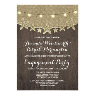 Convites da festa de noivado da praia de