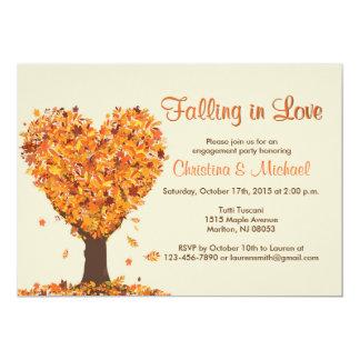 Convites da festa de noivado da queda - caindo no