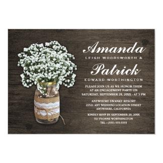 Convites da festa de noivado de serapilheira da