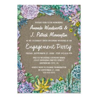 Convites da festa de noivado de serapilheira do