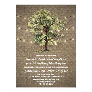 Convites da festa de noivado do carvalho do