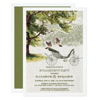 Convites da festa de noivado do design do vintage