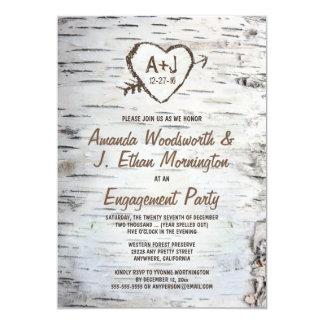 Convites da festa de noivado do latido de árvore