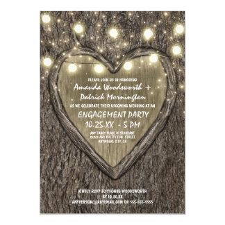 Convites da festa de noivado do latido de carvalho