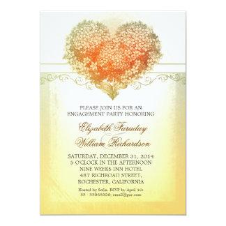 convites da festa de noivado do vintage