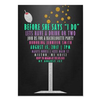 Convites da festa de solteira - brilho