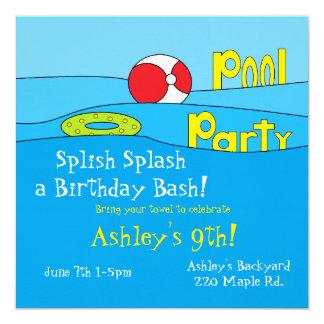"Convites da ""festa na piscina"""