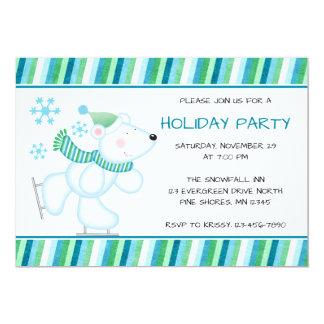Convites da festa natalícia do Natal do urso polar