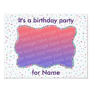 Convites da foto da festa de aniversário dos convite 10.79 x 13.97cm