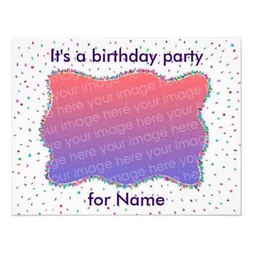 Convites da foto da festa de aniversário dos confe