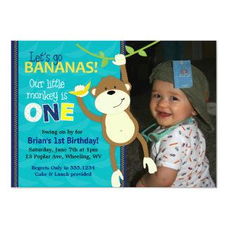 Convites da foto do aniversário das bananas do