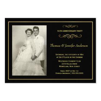 Convites da foto do aniversário de casamento - convite 12.7 x 17.78cm