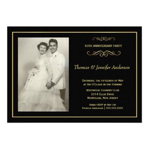 Convites da foto do aniversário de casamento - 50t