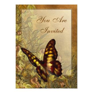 Convites da ilustração da borboleta do estilo do
