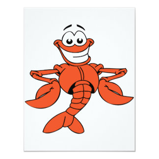 Convites da lagosta dos desenhos animados