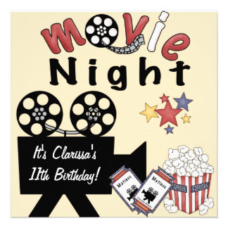 Convites da loucura da noite de cinema