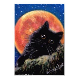 Convites da lua de Muggin do gato preto do Dia das