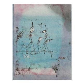 Convites da máquina de Paul Klee Twittering