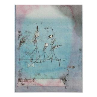 Convites da máquina de Paul Klee Twittering Convite 10.79 X 13.97cm
