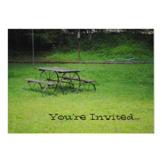 Convites da mesa de piquenique