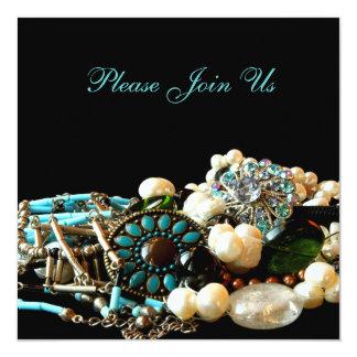 Convites da mostra da expo da jóia