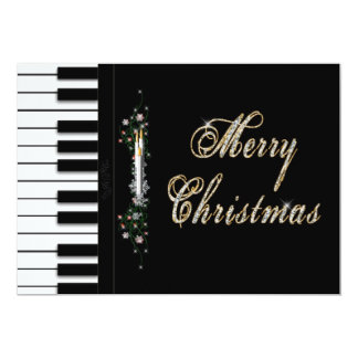Convites da música do Natal - piano - Musical